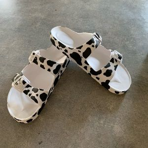 Shoes - Hand painted Birkenstock style sandals